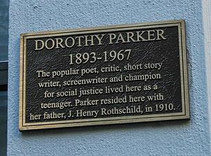 Dorothy Parker Plaque
