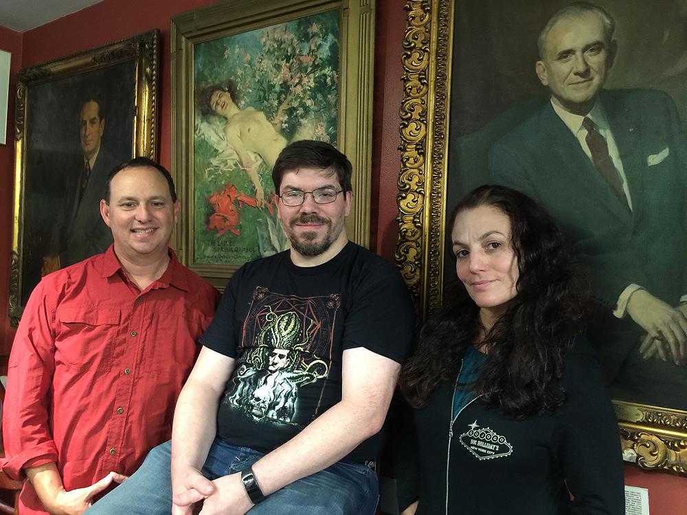Kevin, Douglas, and Joanna at The Lambs